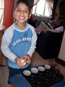 Alex loved helping me make pumpkin muffins last weekend!